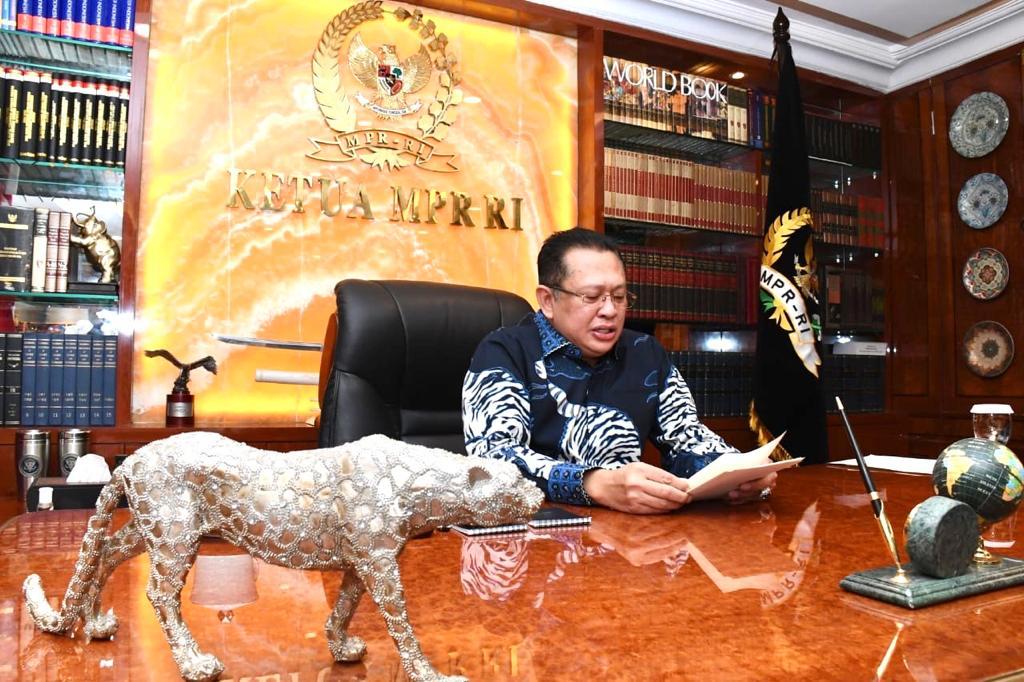 Ketua MPR RI Dorong Komite Pemulihan Ekonomi Nasional dan Komite Penanganan Covid-19 Berkoordinasi dengan Kepala Daerah