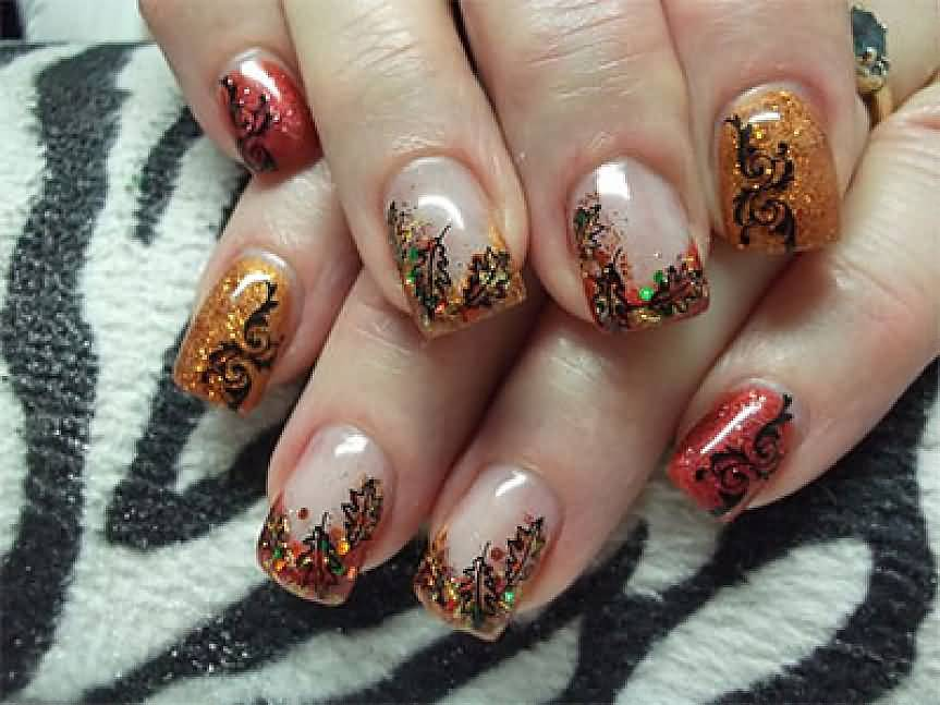 Nail Art Design Leaves: Leaf nail art ideas nenuno creative.