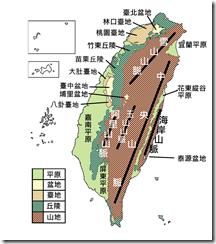 臺灣地形分布圖_網點彩
