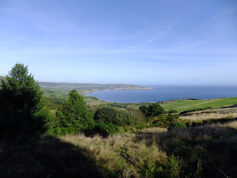 view from the former railway line at Ravenscar