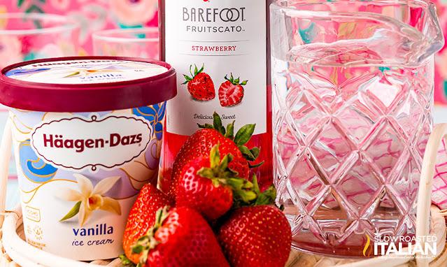 Strawberry Wine Float ingredients