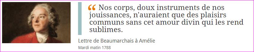 L'amour de Beaumarchais à Amélie