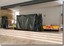 Il dormitorio nell'Auditorium di Scampia