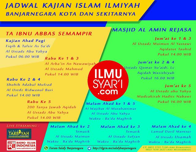 Informasi Jadwal Kajian Sunnah di Banjarnegara