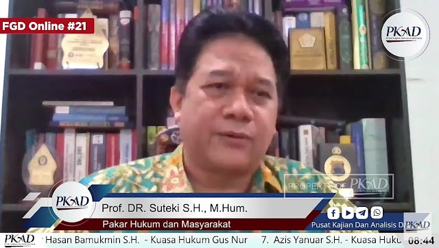 Sikapi Kasus Gus Nur, Prof. Suteki: Fair Trial Harus Dijalankan