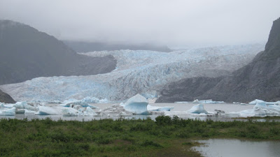 The glacier from just about sea level