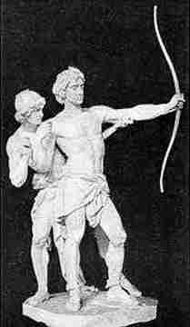 Loki Using Blind Hod To Kill Balder, Asatru Gods And Heroes