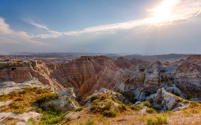 Badlands in the Afternoon Sun by jbkalla1