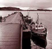 1977г. Дальние Зеленцы. Понтонный мост