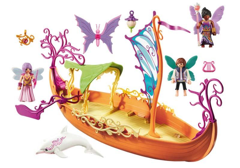 Contenido real de Playmobil® 9133 Barco Romántico de las Hadas