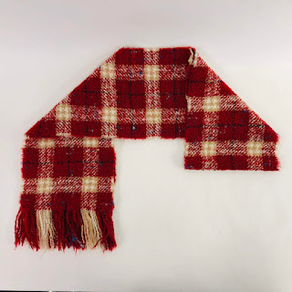*SALE* Burberry Bouclé Plaid Scarf