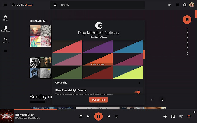 play midnight for google play music