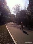 Georgia marathoners running through Piedmont Park.