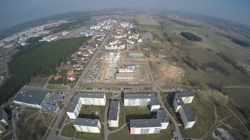 wynajem drona zdjęcia z lotu ptaka z drona Bydgoszcz, Fordon z lotu ptaka