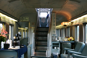 Stairs to the dome car