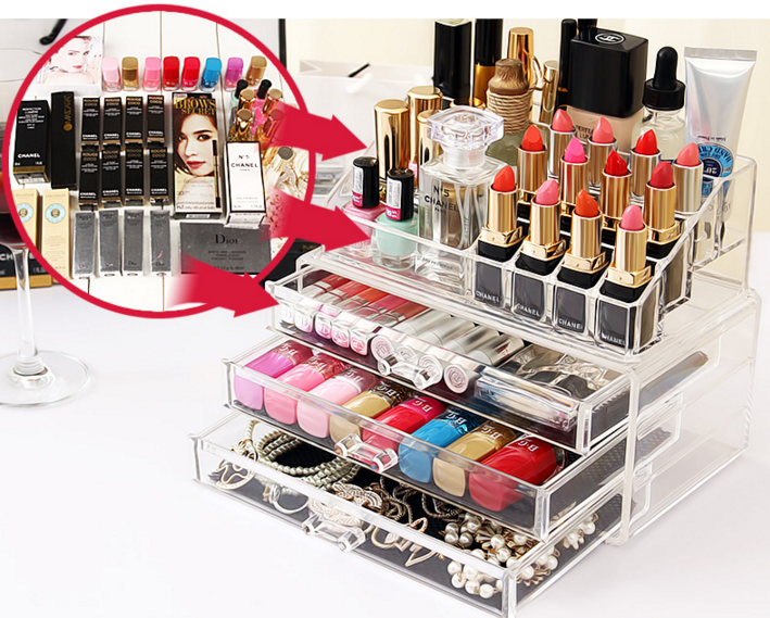 How to arrange Acrylic Makeup Organizer