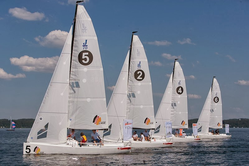 J/70 one-design speedster sailing in Germany