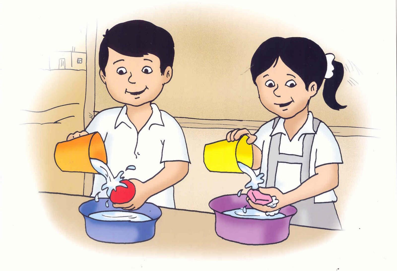 Lavar los alimentos dibujo - Imagui