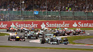 Into 2nd corner after start, Hamilton leads