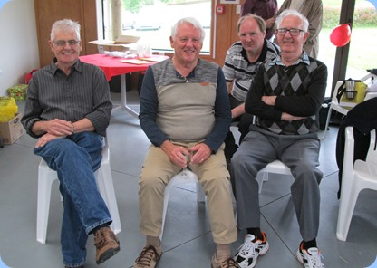 The likely lads enjoying the Day! L:R: Peter Longbottom, Rod Moffat, our host Dave Winslade, and Peter Jackson. Photo courtesy of Diane Lyons.