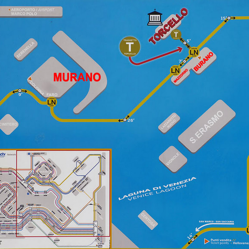 Cartina Vaporetti Venezia.Bluoscar Come Raggiungere Torcello