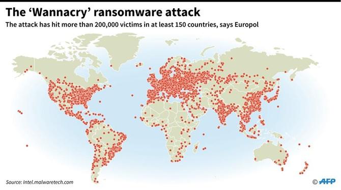 Một số doanh nghiệp, cơ quan chính phủ ở Châu Á bị gián đoạn hoạt động vì tấn công mạng
