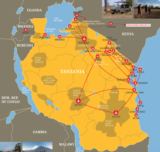 Coastal aviation flights tanzania