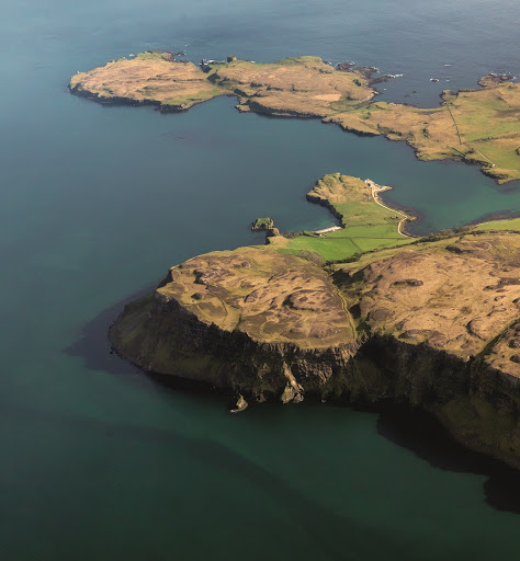 The natural harbour between Canna and Sanday brought the islands into consideration for industrial fishing in the 18th century, although the plan never achieved realisation. © Historic Environment Scotland.  From Lost Heritage of Inner Hebrides uncovered in landmark new book