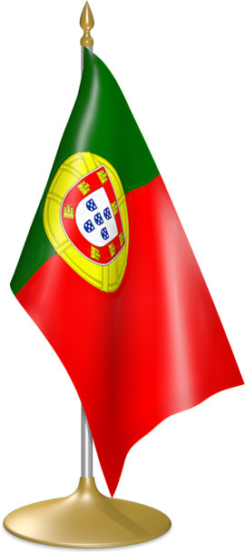 Portuguese table flags - desk flags