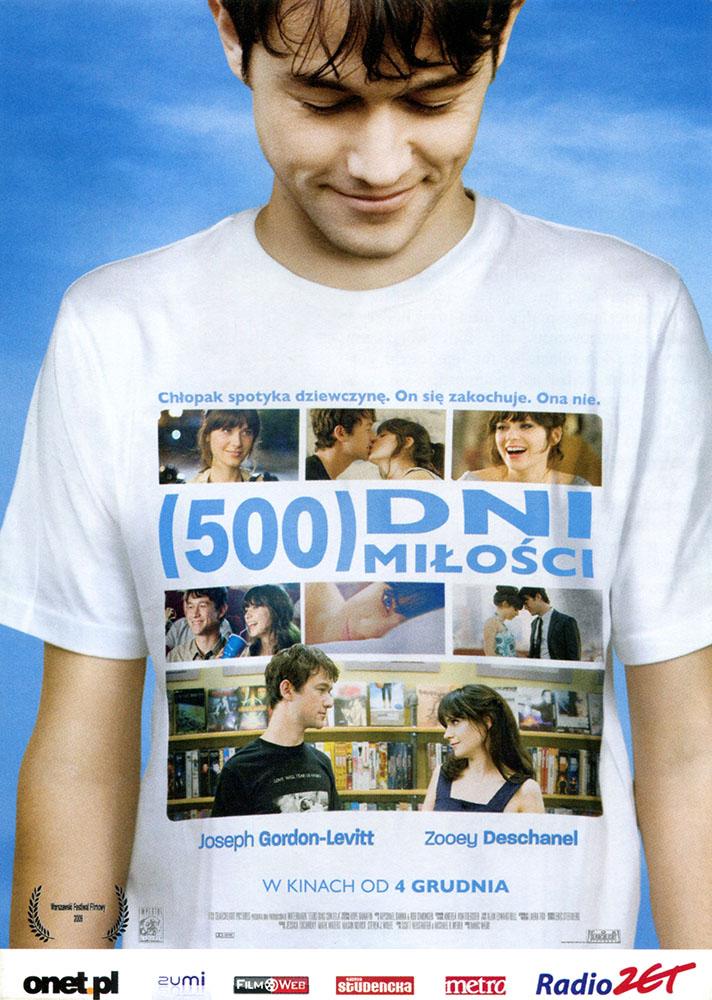 Ulotka filmu '(500) Dni Miłości (przód)'