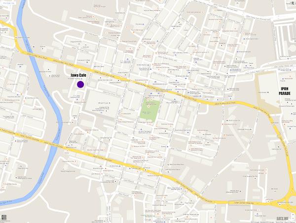 Ayam Penyet Jawa Cafe, Ipoh Map