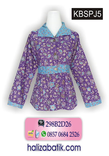 Grosir Batik Pekalongan, gambar model baju batik wanita, jual baju batik murah, desain baju batik muslim