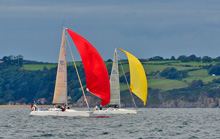 J/109 one-design sailboats- sailing Europeans in England