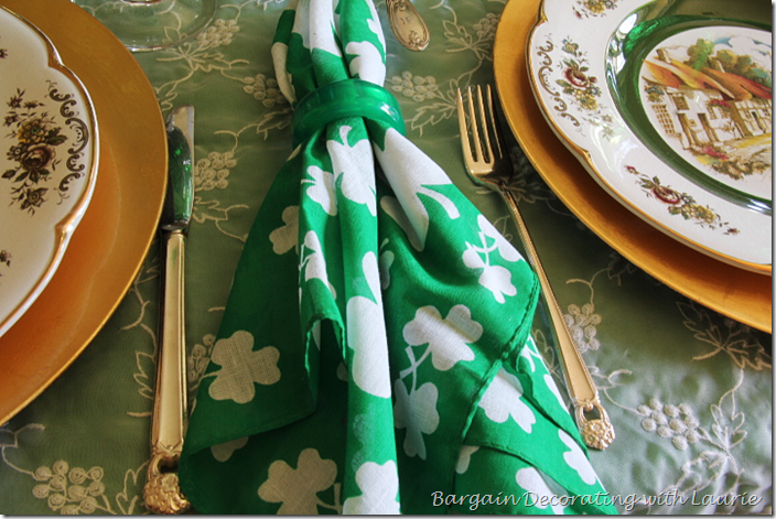 Shamrock Napkins on St. Patrick's Table