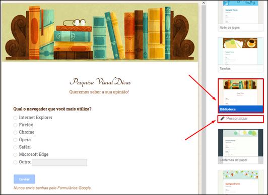 Como criar formulários de pesquisas no Google Docs - Visual Dicas