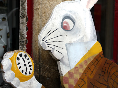 White rabbit from Alice in Wonderland in Oxford