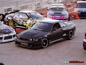 Black Drift Nissan Skyline R33
