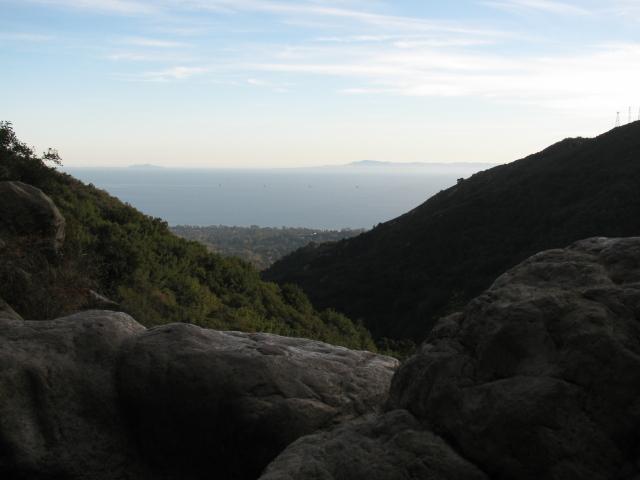 view of Santa Barbara from the fall