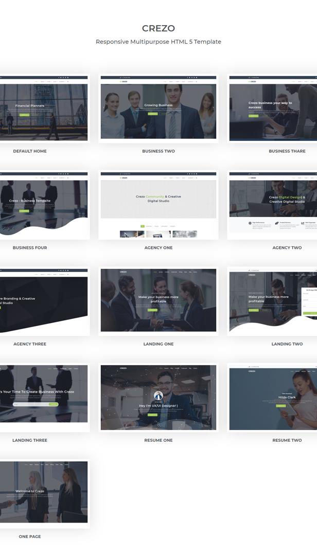 Crezo - Multipurpose HTML5 Template - 1