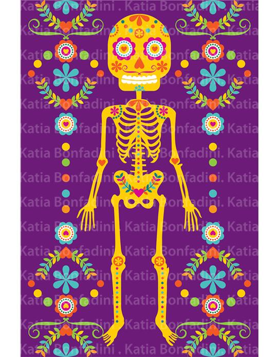 Ilustração elaborada especialmente para o kit digital DÍA DE LOS MUERTOS FESTA  MEXICANA 44f13fc4a13