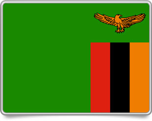 Zambian framed flag icons with box shadow