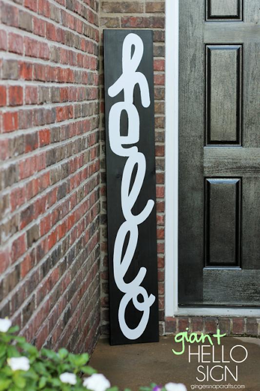 giant hello sign at GingerSnapCrafts.com #DIY #vinyl #gingersnapcrafts_thumb