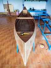 Photo: the sunken decks... I had an idea of using paint & varnish to make them look nice...
