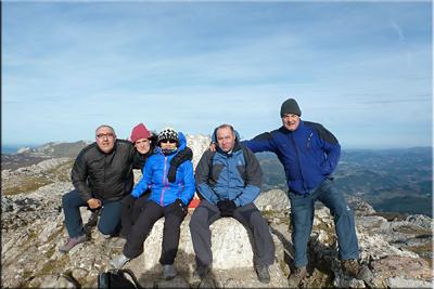 Aratz mendiaren gailurra 1.445 m. --  2015eko abenduaren 27an