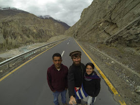Rochssare Neromand-Soma (28) and Morten Hübbe from Germany in Hunza Valley,