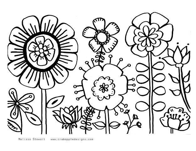 Flower Coloring Pages  Paint Sample Butterflies