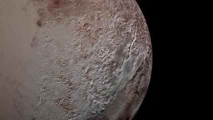 terreno laminado de Plutão