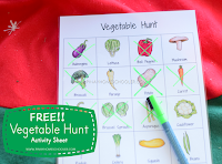 FREE Vegetable Hunt Activity Sheet