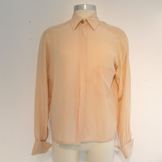 Chanel Peach Silk Blouse
