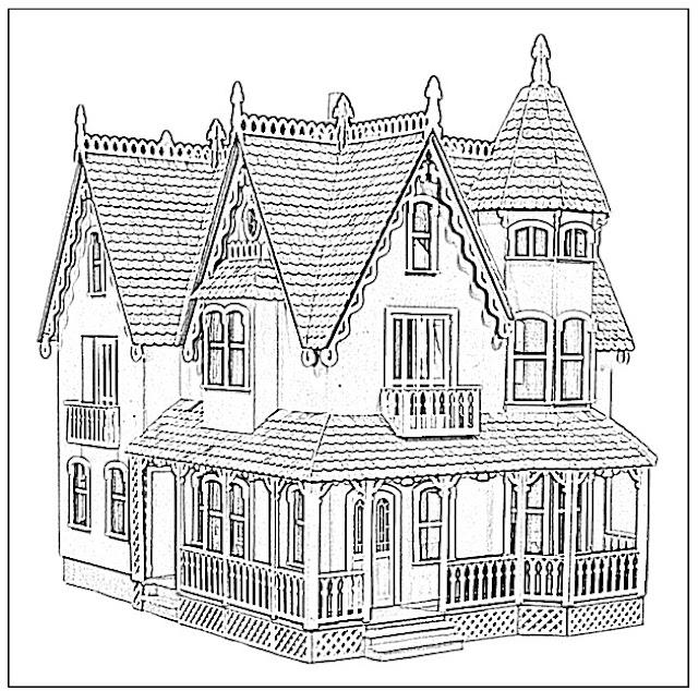 gratis ausmalbilder hexenhaus  tippsvorlage